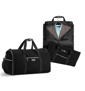 NEW Hangeroo Two-in-one Garment Bag + Duffle Duffel Bag Condtion: New, One Size, Black