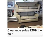 New... pair of sofas on clearance