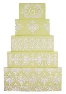 wedding cake stencils decorating cake stencils ebay 25702