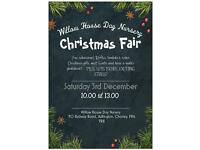 Christmas Fair! At Willow House Day Nursery in Adlington sat 3rd December