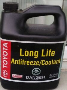 Genuine Toyota Coolant / Antifreeze Long Life Jug (3.7 Litre)