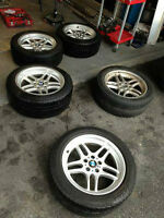 Alloy Rims Tires will fit BMW 5 and 7 series LIKE NEW
