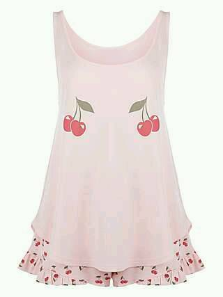 Cherry cami set pjs
