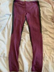 girls roots purple and grey leggings size 11/12