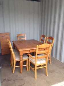 Solid Wood Dining Room Set - Down Sizing