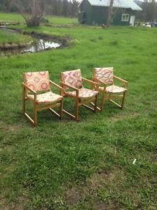 Sturdy wood frame chairs - sweet deal!