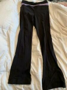 ivivva black reversible yoga pants with flare on bottom size 12