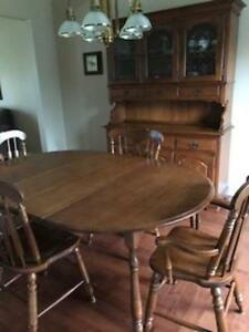 Knechtel Dining Table Chairs Hutch Buffet
