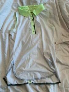 white and neon green ivivva tank top size 14
