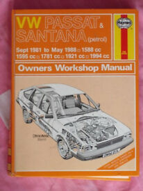 VW Passat & Santana (petrol) Haynes Manual