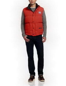 Men Freestyle Vest Red - Canada Goose 69% off!