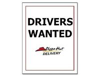 Delivery Drivers Wanted PIZZA HUT ENFIELD/PONDERSEND