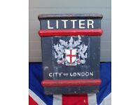 City of London cast iron bins