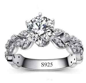 New White Gold Plated CZ Ring (Size 7)