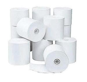 Bond Paper Rolls - 3'' x 155', 1 ply, 50/Pack, White
