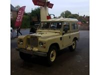 Landrover series 3 1974 with galvanised chassis