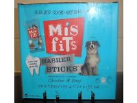 BNIB Misfits Nasher Dog Chew Sticks 70 pk, tasty treats that keep your dog's teeth clean