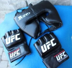 UFC fight gloves medium size ATF Sports Head guard protection ge