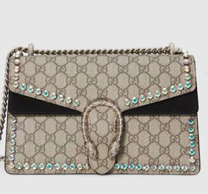 GUCCI Dionysus GG small crystal shoulder bag