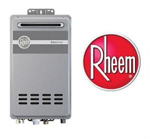 NEW* RHEEM ECOSENSE WATER HEATER LP  8.4 GPM MID EFFICIENCY OUTDOOR TANKLESS GAS WATER HEATER LIQUID PROPANE  82028512