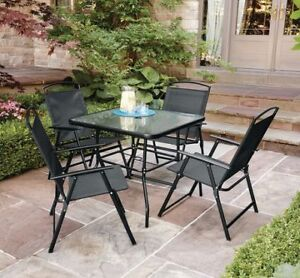 Mainstays Cranston 5-Piece Folding Dining Set