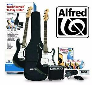 NEW ALFRED STARTER GUITAR PACK   TEACH YOURSELF TO PLAY ELECTRIC GUITAR COMPLETE STARTER PACK MUSIC INSTRUMENT 93207601
