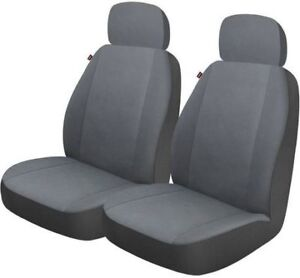 NEW: Who-Rae Universal Front Seat Cover - One Pair, Grey Color