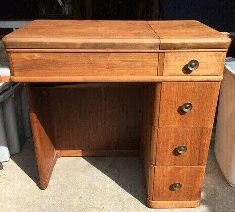 Vintage 1950's 4-drawer Sewing Machine Desk