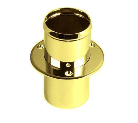 """FS0373B Polished Brass Exhaust Outlet Fits 2"""" Hose 80mm Flange 100mm L 135-984"""