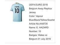 BELGIUM EURO 2016 AWAY SHIRT WITH PRINTING