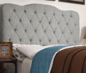 Reduced Tufted Upholstered Panel Queen headboard
