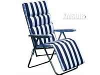 2 Westwood Sunchairs. Unused in box. Unwanted gift. Blue Stripe