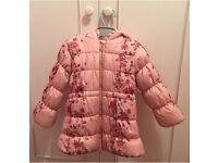 Beautiful warm padded girls coat / jacket age 4 - 5