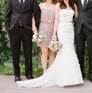 Oleg Cassini Strapless Wedding Dress (Size 0-2)
