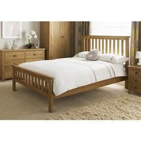 Double Wooden bed & mattress