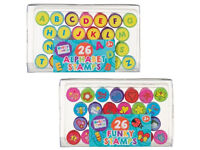 Hobby World Alphabet and Funky Stamps 26 pieces Each NEW