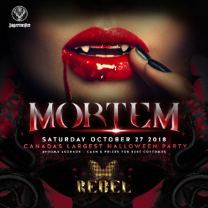 Mortem @ Rebel Nightclub October 27th hard copy tickets