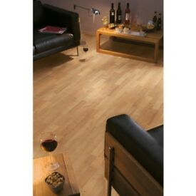 Kinver Oak Effect 3 Strip Laminate Flooring 2.5sqm Pack x 2