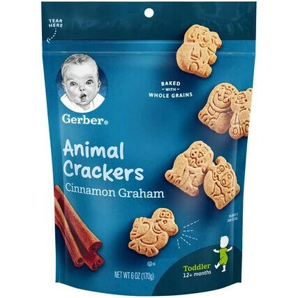 Gerber Animal Crackers Cinnamon Graham 6 oz Unit Count 4
