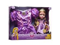 Disney Rapunzel Toddler Doll & Dress Age 3-4