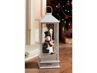 Musical Snowing Lantern 48cm - Snowman new in box