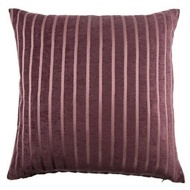 [new with tags] Two 55x55cms cushions - plum colour 2 for £5