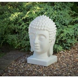 Large Solar Garden Buddha Head - Free local delivery