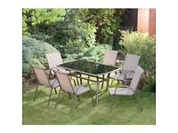8 piece garden table and chair set