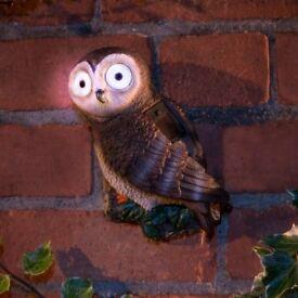 Solar Powered Garden Owl and Bird