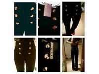 Robert cavelli tailored black brand new high waist black trousers