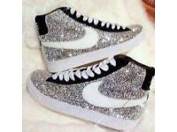sparkly high tops only worn once