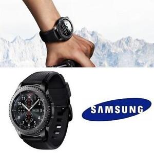 NEW SAMSUNG GEAR S3 SMARTWATCH SM-R760NDAAXAC 191316419 FRONTIER SMARTWATCH WITH HEART RATE MONITOR