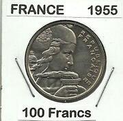 1955 100 Francs Coin