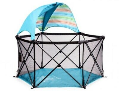 New Pop N Play Summer Infant Portable Playard W/ Canopy Pen Toddler Pet Outdoor for sale  Shipping to South Africa